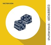 two dice vector icon. modern ... | Shutterstock .eps vector #683688853