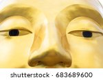 Face Of Statue Make From Gold