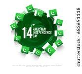 illustration for independence... | Shutterstock .eps vector #683691118