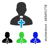 catholic priest vector icon....   Shutterstock .eps vector #683691778