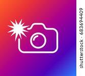 camera flash rounded icon....