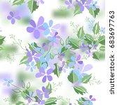 vintage romantic of fashionable ... | Shutterstock .eps vector #683697763