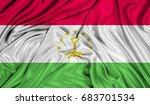 3d flag of tajikistan silk... | Shutterstock . vector #683701534