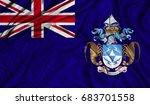3d flag of tristan da cunha... | Shutterstock . vector #683701558
