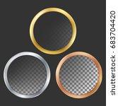 gold  silver  bronze  copper... | Shutterstock .eps vector #683704420