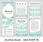 abstract vector layout... | Shutterstock .eps vector #683704978