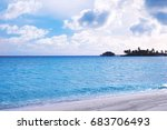 beautiful view of sea beach at... | Shutterstock . vector #683706493