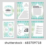 abstract vector layout... | Shutterstock .eps vector #683709718
