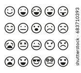 emoji icons set. smiley images | Shutterstock . vector #683710393