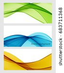 abstract colored wave on a...   Shutterstock .eps vector #683711368