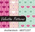 lovely valentine patterns | Shutterstock .eps vector #68371237