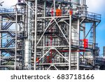 close up industrial zone. plant ... | Shutterstock . vector #683718166