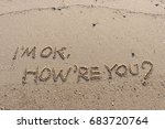 "handwriting  words ""i'm ok. how'... 