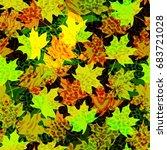 beautiful seamless vector... | Shutterstock .eps vector #683721028