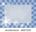vector winter checker frame... | Shutterstock .eps vector #6837220
