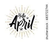 hello april   firework   vector ...   Shutterstock .eps vector #683722744