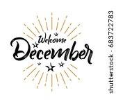 welcome december   firework  ... | Shutterstock .eps vector #683722783