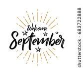 welcome september   firework  ... | Shutterstock .eps vector #683722888