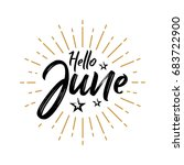 hello june   firework   vector... | Shutterstock .eps vector #683722900