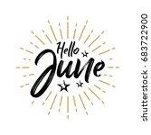 hello june   firework   vector... | Shutterstock .eps vector #683722900
