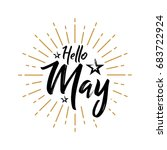 hello may   firework   vector... | Shutterstock .eps vector #683722924