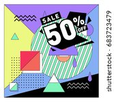 summer sale memphis style web... | Shutterstock .eps vector #683723479