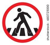 crosswalk sign vector   Shutterstock .eps vector #683725000