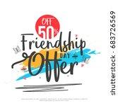 poster or banner of happy... | Shutterstock .eps vector #683726569