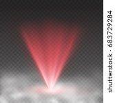 light laser effect in fog... | Shutterstock .eps vector #683729284