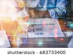 businessman working on... | Shutterstock . vector #683733400