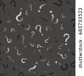 question mark seamless pattern .... | Shutterstock . vector #683733523