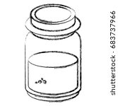 mason jar with ingredient... | Shutterstock .eps vector #683737966