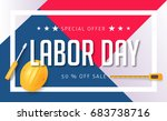 labor day sale promotion... | Shutterstock .eps vector #683738716