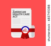 the american health care act... | Shutterstock .eps vector #683745388