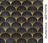 seamless geometric pattern on... | Shutterstock . vector #683745958