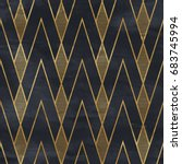 seamless geometric pattern on... | Shutterstock . vector #683745994