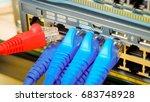 rj45 connector or utp port cat6 ...   Shutterstock . vector #683748928