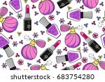 vector seamless tiling pattern... | Shutterstock .eps vector #683754280