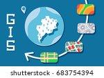 gis software concept ... | Shutterstock .eps vector #683754394