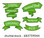 vector natural food  eco ... | Shutterstock .eps vector #683759044