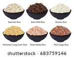 different type of rice. long... | Shutterstock .eps vector #683759146