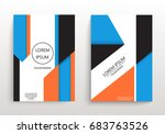 covers with minimal design.... | Shutterstock .eps vector #683763526