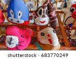 fashionable handmade animal hat    Shutterstock . vector #683770249