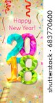 happy new year 2018 greeting... | Shutterstock .eps vector #683770600