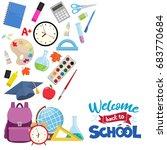 set of different school... | Shutterstock .eps vector #683770684