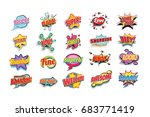 comic book words set. nice bam... | Shutterstock .eps vector #683771419