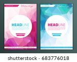 modern vector abstract brochure ... | Shutterstock .eps vector #683776018