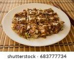 okonomiyaki  japanese pizza or... | Shutterstock . vector #683777734