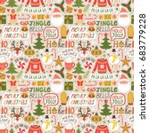 winter seamless pattern with... | Shutterstock .eps vector #683779228