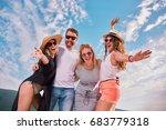 group of people dancing ... | Shutterstock . vector #683779318